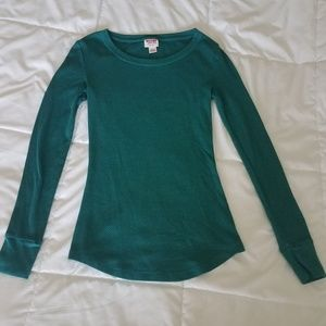 Mossimo XS green thermal top